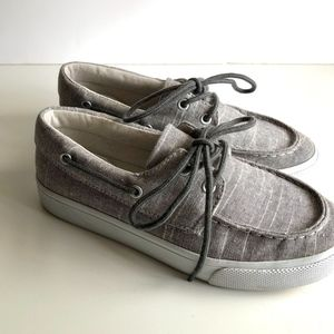 Old Navy Boys Gray Chambray Loafers